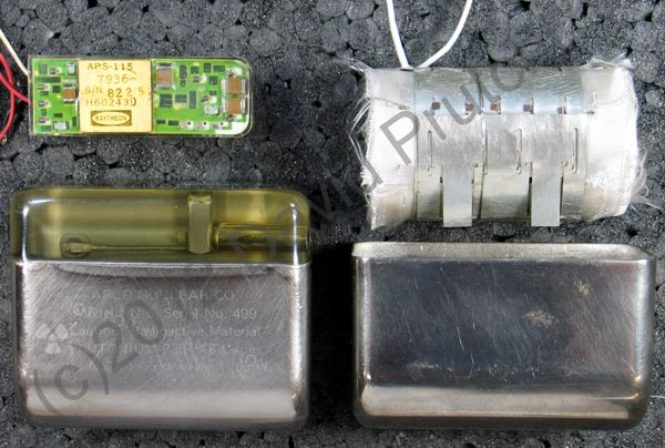 Internal components of the Arco nuclear pacemaker