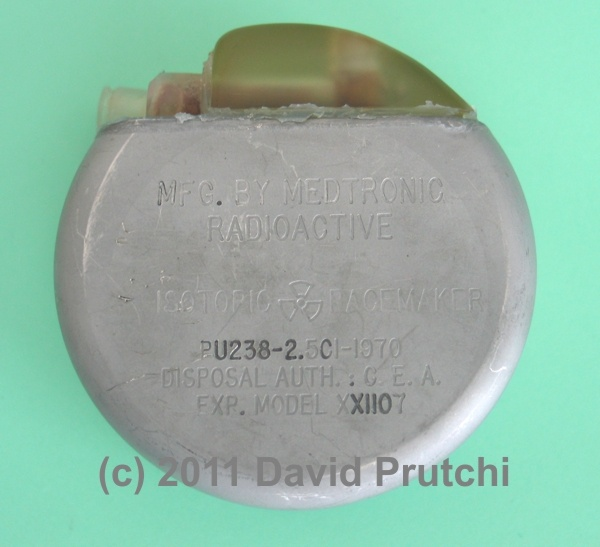Medtronic's atomic pacemaker powered by an Alcatel plutonium 238 RTG