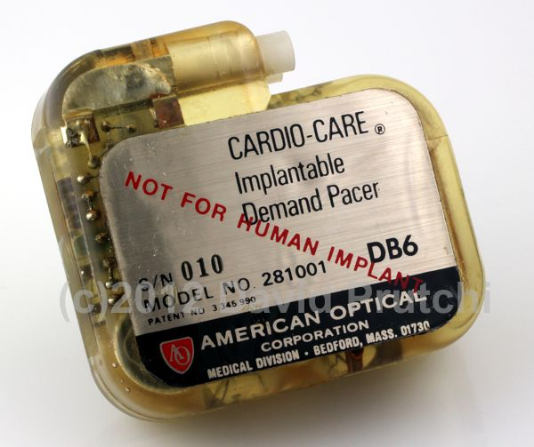 American Optical Cardio-Care Implantable Demand Pacemaker (1968)