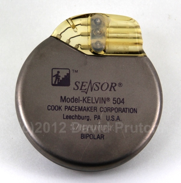 Cook Pacemakers Sensor Kelvin Model 504 central-venous-temperature-sensing rate-responsive pacemaker
