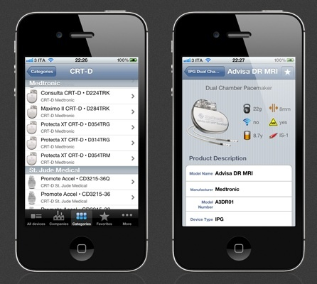 iPacemaker implantable pacemaker and ICD database for the iPhone