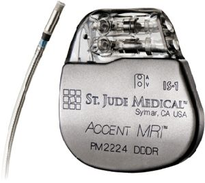 St Jude's ACCENT MRI MRI-compatible pacemaker. Report by David Prutchi PhD