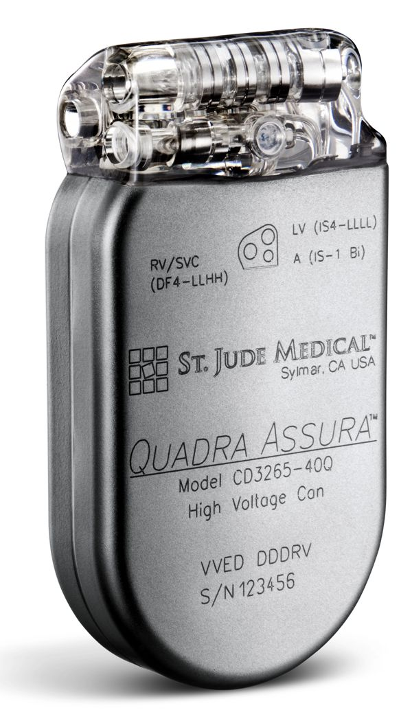 St Jude Medical's Assura series of implantable defibrillators and CRT-Ds  www.implantable-device.com  David Prutchi, Ph.D.