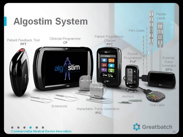 Greatbatch Algostim System David Prutchi PhD www.implantable-device.com