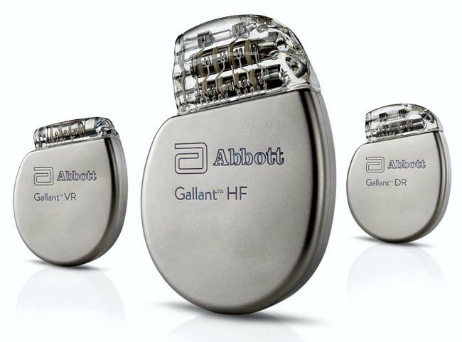 Abbott Gallant ICD CRT-D family with Bluetooth connection www.implantable-device.com
